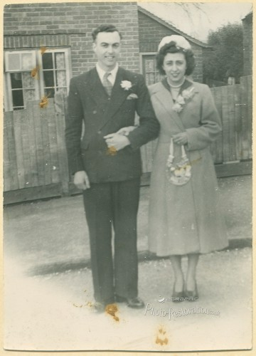 wedding photograph with poor background